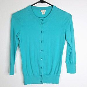 J Crew The Clare Cardigan Sweater Blue Size XXS